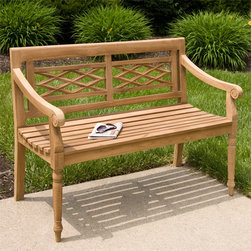 4 ft Teak Cross Pattern Bench - Perfect for adding additional seating to your back patio or lawn, this Teak Cross Pattern Bench also provides style and charm. Pair with other teak wood items for a coordinated look.