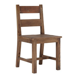 """Zuo - Zuo Lincoln Park Distressed Wood Chair - Vintage look wood chair. Distressed solid elm wood construction. Adds a sturdy minimal look to your decor. A chic addition to your home from Zuo Modern. 18 1/2"""" wide. 17 1/4"""" deep. 33 1/2"""" high. Seat is 18 1/2"""" wide and 17 1/2"""" deep. Seat is 17 1/2"""" high. Fully assembled.  Vintage look wood chair.  Distressed solid elm wood construction.  Adds a sturdy minimal look to your decor.  A chic addition to your home from Zuo Modern.  18 1/2"""" wide.  17 1/4"""" deep.  33 1/2"""" high.  Seat is 18 1/2"""" wide and 17 1/2"""" deep.  Seat is 17 1/2"""" high.  Fully assembled."""