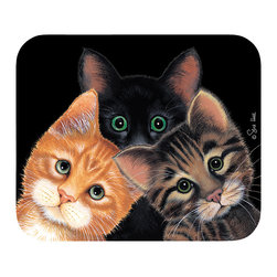 "100-Peeping Toms Mouse Pad - Decorate your desk with your favorite art designs that look great and protect your mouse from scratches and debris. 100% Polyester face, 100% neoprene backing, permanently dye printed & fade resistant. 9.25"" x 7.5"""