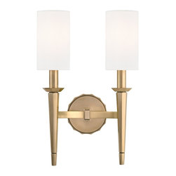 Hudson Valley - 8882-AGB Tioga Bath Vanity Light, Aged Brass - Modern Contempo Bath Vanity Light in Aged Brass from the Tioga Collection by Hudson Valley.