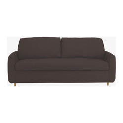 Honovi 3 Seat Sofa Bed, Brown Fabric