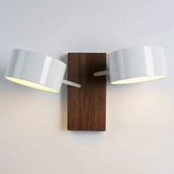 Roll & Hill - Excel Double Wall Sconce   Roll & Hill - Design by Rich Brilliant Willing, 2008.