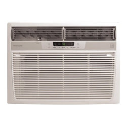 Frigidaire A/C - 15,100 BTU, Electronic Controls w/ Remote - Frigidaire's FRA156MT1 15,100 BTU 115V Window-Mounted Median Air Conditioner is perfect for rooms up to 900 square feet. It quickly cools the room on hot days and quiet operation keeps you cool without keeping you awake. Low power start-up and operation conserves energy and saves you money. Ready-Select electronic controls allow you to set the comfort level to your preference, while the convenient temperature readout displays the set temperature. Effortless temperature sensing remote control allows you to see, set and maintain room temperature from across the room. The multi-speed fan features three different fan speeds for more cooling flexibility and the multi-directional comfort control design allows you to easily control the direction of the cool air, wherever the unit is mounted. Plus, the clean air ionizer removes pollen and impurities from the air providing relief for allergy sufferers.15,100 BTU median air conditioner for window-mounted installation uses standard 115V electrical outlet|Quickly cools a room up to 900 sq. ft.|Dehumidification up to 3.8 pints per hour|Clean air ionizer removes pollen and impurities from the air providing relief for allergy sufferers|Fresh air vent and exhaust control remove odors and freshen the air|Ready-select electronic controls allow you to easily select options with the touch of a button|Effortless temperature sensing remote control allows you to see, set and maintain room temperature from across the room|Low power start-up and operation conserves energy and saves you money|Quiet operation keeps you cool without keeping you awake|Effortless temperature control maintains preset room temperature so you will remain at your comfort level|  frigidaire| fra156mt1| fra156| cooling| window| mounted| window-mounted| air| conditioner| ac| a/c| median| 15|000| 15000| btu| btus| 115| 115v| 115-v  Package Contents: air conditioner|remote control|2 AAA batteries|installation kit|manual|warranty  This item cannot be shipped to APO/FPO addresses