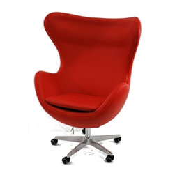 Inner Office Chair, Red Leather -