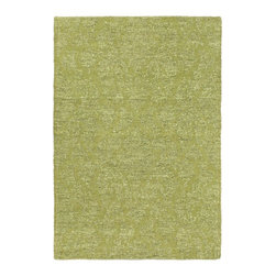 """Torabi Rugs - Hand loomed Javier Green Polyester Rug 3'11"""" x 5'11"""" - The Javier collection consists of plush and textured reversible hand-loomed rugs. These beautiful pieces are made using earthy and texture-rich fibres for a casual look that feels natural as well as contemporary."""
