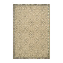"""Nourison - Nourison Riviera RI01 2' x 2'9"""" Sand Area Rug 41727 - With its sumptuous texture, glamorously refined design, silk-like detailing for an incredible sheen and gilded hues of gold, sand, white and slate, this resplendent rug raises the elegance quotient of any area to the """"nth"""" degree."""