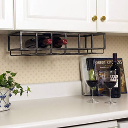 Six Bottle Under Cabinet Wine Rack - Keep your favorite vintage within easy reach with this 6-bottle wine rack. Its under-the-cabinet style mounting provides simple wine storage for kitchens and apartments short on space.