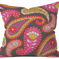 DENY Designs - Mary Beth Freet Treasure Trunks Outdoor Throw Pillow - Do you hear that noise? it's your outdoor area begging for a facelift and what better way to turn up the chic than with our outdoor throw pillow collection? Made from water and mildew proof woven polyester, our indoor/outdoor throw pillow is the perfect way to add some vibrance and character to your boring outdoor furniture while giving the rain a run for its money. Custom printed in the USA for every order.
