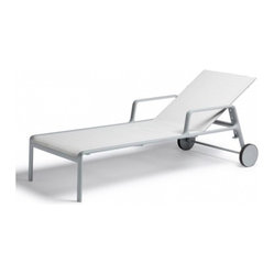 Park Life Sunlounger, White - Simple, subtle and clean are just what you hope for in a modern piece of outdoor furniture. This Spanish label is known for its quality pieces and their ability to last over time.