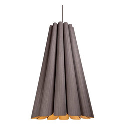 WEP Light - Olivia Suspension - Olivia Suspension features a real wooden frame available in a large and small version. Available in a multitude of outer/inner combinations of shade colors including Ash/Ash, Ash/Blue, Ash/Red, Ash/Green, Ash/Red, Ash/Yellow, Beech/Beech, Beech/Blue, Beech/Red, Beech/Green, Beech/Yellow, Gray/Gray, Gray/Blue, Gray/Red, Gray/Green, Gray/Yellow, Ebony/Ebony, Ebony/Blue, Ebony/Red, Ebony/Green, or Ebony/Yellow. Also available in reverse outer/inner shade colors including Gray/Ash, Ebony/Ash, Blue/Ash, Red/Ash, Green/Ash, Red/Ash, Yellow/Ash, Blue/Beech, Red/Beech, Green/Beech, Yellow/Beech, Blue/Gray, Red/Gray, Green/Gray, Yellow/Gray, Blue/Ebony, Red/Ebony, Green/Ebony, or Yellow/Ebony. Finish in Black. Requires one 75 watt 120 volt A19 medium base incandescent bulb, not included. Includes 63 inch field adjustable suspension cable. Dimensions: Small: 15.5 inch diameter x 18.5 inch height. Large: 28.3 inch diameter x 47.2 inch height. All Weplight fixtures require assembly.
