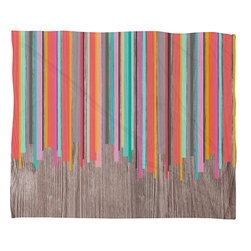 DENY Designs - DENY Designs Iveta Abolina Stripe Happy Fleece Throw Blanket - This DENY fleece throw blanket may be the softest blanket ever! And we're not being overly dramatic here. In addition to being incredibly snuggly with it's plush fleece material, it's maching washable with no image fading. Plus, it comes in three different sizes: 80x60 (big enough for two), 60x50 (the fan favorite) and the 40x30. With all of these great features, we've found the perfect fleece blanket and an original gift! Full color front with white back. Custom printed in the USA for every order.