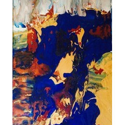 Montrose Spill (Original) by Ashley Villegas - Collaborating the earth with spills of color. Perfect for filling your space.