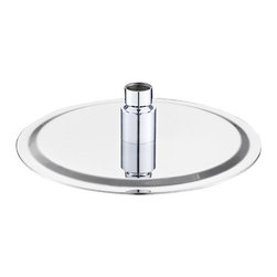 """AKDY - AKDY Round Polished Stainless Steel Chrome Finish Shower Head, 13 3/4"""", Without - The AKDY shower head is the ultimate study in simplicity. With clear rubber nozzles spread over an 13.75"""" in diameter circular surface, this shower head delivers a strong downpour of water. Sleek in design, and highly functional, this model was meant for people who want one thing: an amazing shower experience without unnecessary frills."""