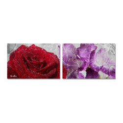 Ready2HangArt - Ready2HangArt Alexis Bueno 'Roses are Red, Violets are Blue II'  Canvas Wall Art - This abstract canvas art is the perfect addition to any contemporary space. It is fully finished, arriving ready to hang on the wall of your choice.