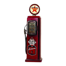 Benzara - Wood Gas Pump Cd Holder - If you are looking for low cost but rare to find elsewhere decor item to refresh the decor appeal of short spaces on tables and shelves with utility potential, beautifully designed 74092 WOOD GAS PUMP CD HOLDER may be a good choice.