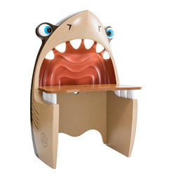 """Cilek - Shark Study Desk - Shark study desk makes sure that little """"Black Pirates"""" do not get bored while doing their homeworks. The cute shark with lit teeth and adjustable eyes brings fun and color to their rooms."""