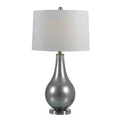 Kenroy - Kenroy 32043MP Teardrop Transitional Table Lamp - These always popular tear shaped lamps have lustrous, luminous finishes.  Brighten up any room with these glitzy, versatile, blown glass lamps.