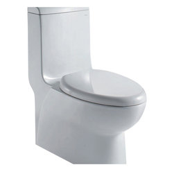 "Ariel - Ariel Royal CO1038 Dual Flush Toilet 28x14x32 - Ariel cutting-edge designed one-piece toilets with powerful flushing system. It?s a beautiful, modern toilet for your contemporary bathroom remodel. Dimensions: 28 x 14 x 32, UPC Approved, 12"" Rough in For easy standard installation, High Quality Glaze that resist stains and Microbes, Seat is Included with the Toilet, Fully Glazed Trapway for smoother flushes, Elongated Bowl, Elongated Bowl"