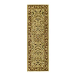 Safavieh - Traditional Rug (10 ft. x 2 ft.) - Size: 10 ft. x 2 ft. Hand tufted weave. Intricate Tabriz, Lavar Kerman and Isfahan hand-knotted motifs. Made from wool. Ivory and rust color. Made in India. Pile height: 0. 63 in. Inspired by the legendary designs of Persia's most prestigious rug-weaving capitals, these extraordinary reproductions recreate some of the most prized antiques in Safavieh's archival collection. Care Instructions: Vacuum regularly. Brushless attachment is recommended. Avoid direct and continuous exposure to sunlight. Do not pull loose ends clip them with scissors to remove. Remove spills immediately; blot with clean cloth by pressing firmly around the spill to absorb as much as possible. For hard-to-remove stains professional rug cleaning is recommended.