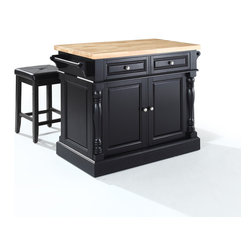 Crosley - Butcher Block Top Kitchen Island - Dimensions: 23 x 48.2 x 36 inches