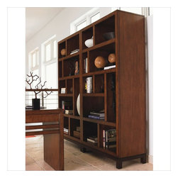 Tommy Bahama Home - Tommy Bahama Home Ocean Club Tradewinds Wall Bookcase - Tommy Bahama Home - Bookcases - 010536991PKG - Tommy Bahama Home Ocean Club Tradewinds Bookcase/Etagere
