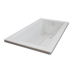 Arista - Bronzino 36 x 72 Rectangular Soaker Drop-In Bathtub - Tub w/ Reversible Drain - DESCRIPTION