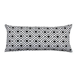"""Lotzi"" Black White Body Pillow Cover"