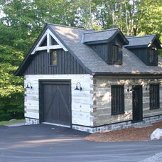 Traditional Garage And Shed by Winterstein General Contracting