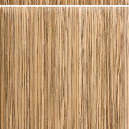 """Dura Supreme Cabinetry - Dura Supreme Cabinetry Moderne - Vertical Cabinet Door Style - Dura Supreme Cabinetry """"Moderne - Vertical"""" cabinet door style in Exotic Veneer shown with Dura Supreme's """"Zebrawood"""" veneer finish. (Vertical Grain Option)"""