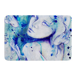 """KESS InHouse - Kira Crees """"Koi Playing"""" Memory Foam Bath Mat (24"""" x 36"""") - These super absorbent bath mats will add comfort and style to your bathroom. These memory foam mats will feel like you are in a spa every time you step out of the shower. Available in two sizes, 17"""" x 24"""" and 24"""" x 36"""", with a .5"""" thickness and non skid backing, these will fit every style of bathroom. Add comfort like never before in front of your vanity, sink, bathtub, shower or even laundry room. Machine wash cold, gentle cycle, tumble dry low or lay flat to dry. Printed on single side."""