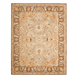 Safavieh - Safavieh Anatolia AN558A, Light Brown, 4'x6' Rug - Anatolia Collection brings old world sophistication and quality in new tufted rugs. This collection captures the authentic look and feel of the decorative rugs made in the late 19th century in this region. Hand spun wool and an ancient pot dying technique together with a densely woven thick pile, gives Anatolia rugs their authentic finish.