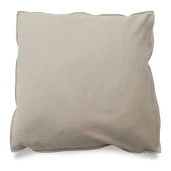 Blu Dot - Blu Dot Medium Square Pillow, Stone - It might be a square, but it's no where near boring. Available in 12 colors for you to play with.Cocoa, Graphite, Pebble, Persimmon: 100% Polyester, Chalk, Dark Roast: 70% Acrylic / 30% Wool blend, Ocean, Smoke, Stone: 77% Cotton / 23% Polyester, Aqua: 60% Wool / 40% Rayon blend upholstery, Guacamole: 80% Acrylic / 30% Wool