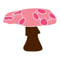 My Wonderful Walls - Large Mushroom Stencil 3 for Painting - - Large mushroom stencil