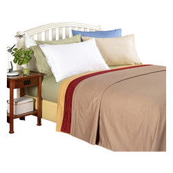 Bed Linens - Egyptian Cotton 1000 Thread Count Solid Sheet Set Full Burgundy - 1000 Thread Count Solid Sheet Sets