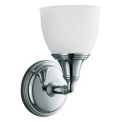 Kohler - Kohler K-10570 Traditional / Classic Single Light Up or Down Wall Sconce - Devonshire(R) single wall sconceFeaturing an elegant combination of curves and gentle lines, Devonshire(R) accessories add refinement to any bath or powder room. This UL and CUL approved single light sconce, offered in a wide array of lustrous finish options, is designed to fit with KOHLER(R) mirrored bath cabinets and complements the Devonshire Suite of products.