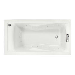 """American Standard - American Standard 2422.V068C.020 Evolution Deep Soak EverClean Air Bath, White - American Standard 2422.V068C.020 Evolution Deep Soak EverClean Air Bath, White. This soaking bath tub features an acrylic construction with fiberglass reinforcement, a dual molded-in set of armrests, an EverClean system that inhibits the growth of bacteria, mold, and mildew, air jets that fully surround the bathing well, a variable speed air blower with heater, an automatic purge timer, a pre-leveled tub bottom, and it has an undermount option, as well as a recessed installation option. It measures 60"""" by 32"""" by 21-1/2""""."""