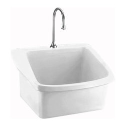 American Standard - American Standard Surgeon's Scrub Sink, White (9047.093.020) - American Standard 9047.093 Surgeon's Scrub Sink, White