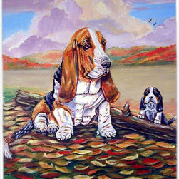Caroline's Treasures - Basset Hound Little One Watching Glass Cutting Board Large Size - Large Cutting Board .. . Made of tempered glass, these unique cutting boards are some of your favorite artists prints. 15 inches high and 12 inches long, they will beautify and protect your counter top. Heat resistant, non skid feet, and virtually unbreakable!