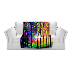 DiaNoche Designs - Throw Blanket Fleece - Autumn Eve II - Original Artwork printed to an ultra soft fleece Blanket for a unique look and feel of your living room couch or bedroom space.  DiaNoche Designs uses images from artists all over the world to create Illuminated art, Canvas Art, Sheets, Pillows, Duvets, Blankets and many other items that you can print to.  Every purchase supports an artist!