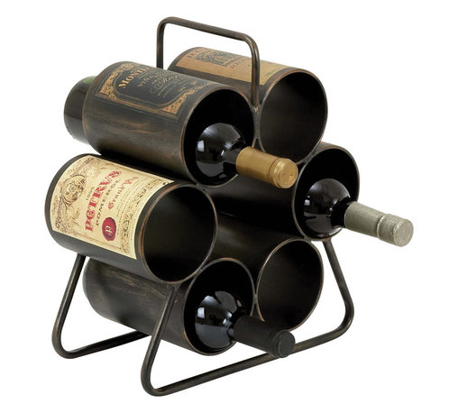 ecWorld - Urban Designs Metal 6-Bottle Hexagon Wine Rack Display - Only the best for fine wine, this simplistic and sophisticated holder is perfect for showcasing your favorite year, this safe design makes it easy to slide the bottle in for a quick display. Add new warmth to any entertaining area.
