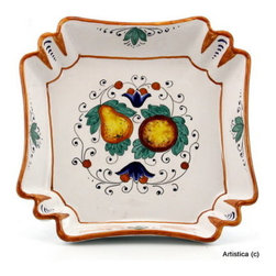 Artistica - Hand Made in Italy - FRUTTINA: Square fancy bowl - FRUTTINA  Collection