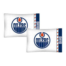 Store51 LLC - NHL Edmonton Oilers Pillowcases Hockey Pillow Covers - FEATURES: