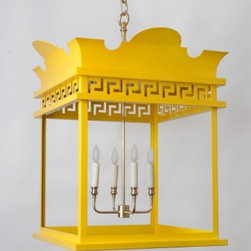 The Rothesay Lantern - This large lantern will make a big statement in any space. I love that it comes in custom colors, letting you put a vibrant yellow (or red, or green, etc.) on a traditional design.