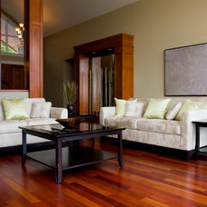 Traditional Living Room by Precision Hard Wood Floors