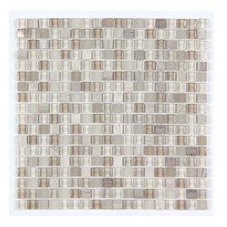 Stone & Co - Stone & Co Mosaic Glass and Stone Mix 5/8 x 5/8 Glass Mosaic Tile Mag 007 SQ - Finish: Polished / Shiny