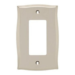 Liberty Hardware - Liberty Hardware 144043 Llylah WP Collection 3.27 Inch Switch Plate - A simple change can make a huge impact on the look and feel of any room. Change out your old wall plates and give any room a brand new feel. Experience the look of a quality Liberty Hardware wall plate. Width - 3.27 Inch, Height - 5.04 Inch, Projection - 0.22 Inch, Finish - Vintage Nickel, Weight - 0.28 Lbs.
