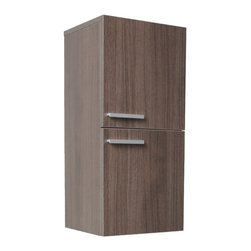"Fresca - Fresca Gray Oak Bathroom Linen Side Cabinet w/ 2 Storage Areas - Dimensions:  12.63""W x 12""D x 27.5""H. Materials:  MDF/Laminate. 2 Large Storage Areas w/ Soft Closing Doors. . . . . . This great side cabinet comes with a Gray Oak finish.  It features 2 storage areas with soft closing doors."
