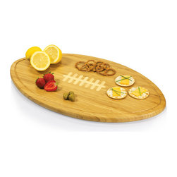 Kickoff Football-shaped Cheese Board - I flipped when I saw this football-shaped cheese board! I have to have a couple of these for my tailgate meals.