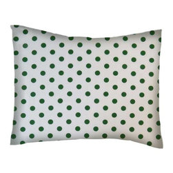 SheetWorld - SheetWorld Crib / Toddler Percale Baby Pillow Case - Hunter Green Polka Dots - Baby or Toddler pillow case. Made of an all cotton percale fabric. Opening is in the back center and is envelope style for a secure closure.