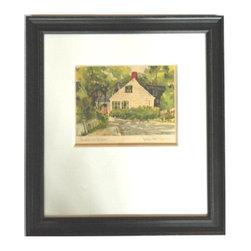 "Charming Vintage Lithograph ""Sunshine and Shadows"" - Charming Vintage Lithograph ""Sunshine and Shadows"""